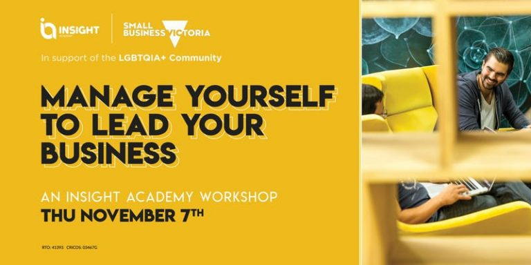 MANAGE YOURSELF TO LEAD YOUR BUSINESS | Workshop